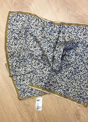 Платок шейный шелк 65*65