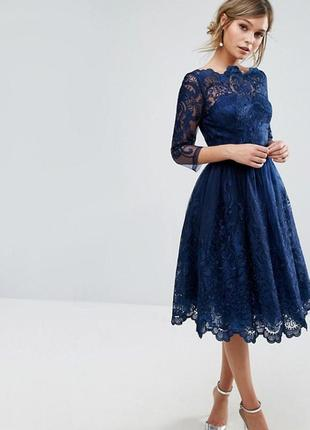 Новое вечернее платье chi chi london (navy 3/4)