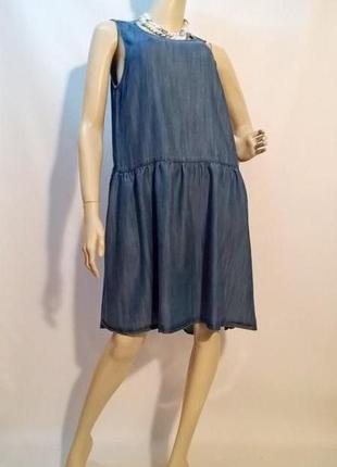 -50 % на вторую вещь!!! женское джинсовое платье повседневное