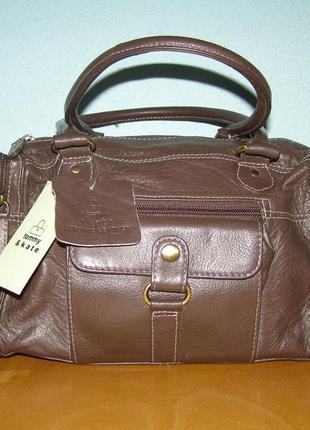 Новая кожаная сумка tommy & kate