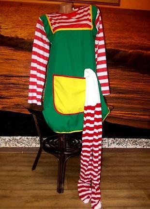 Платье и колготки для пеппи длинный чулок размер s
