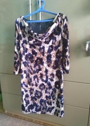 Платье сукня леопардовий прінт