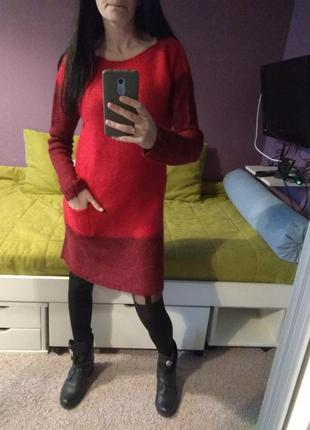 Очень теплое шерстяное платье. италия.