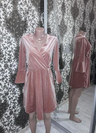 Шикарное платье велюровое
