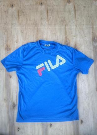 Мужская футболка fila, фила, синяя оригинал