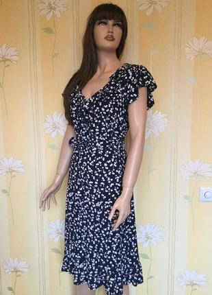 Платье миди 💯 вискоза john rocha 16 размер