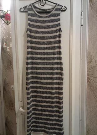 Платье сарафан из вязанного трикотажа