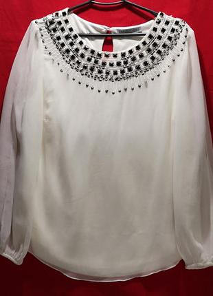 Шифоновая нарядная блузка