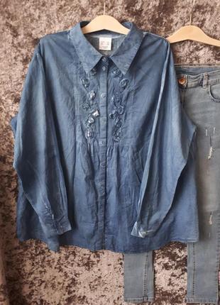 Хлопковая рубашка h&m / 2я вещь в подарок