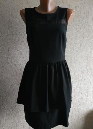 Нарядное вечернее черное платье