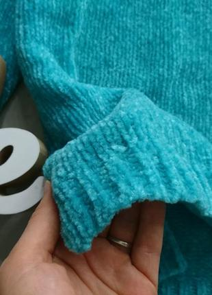 Актуальный велюровый свитер №132