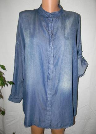 Джинсовая блуза-рубашка италия