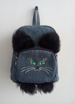 Рюкзачок котик