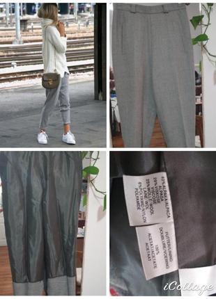 Фирменные, тёплые, базовые, шерстяные, зауженные брюки на завышенной талии, качество!!!