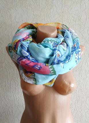 Яркий шарф,снуд, хомут