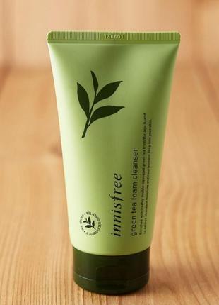 Пенка для умывания с экстрактом зелёного чая🌿 innisfree green tea foam cleanser🌿