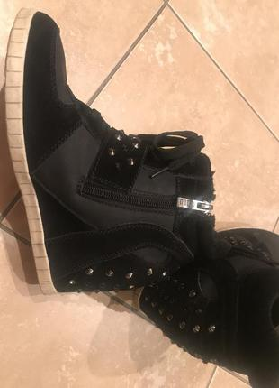 Зимние кроссовки на платформе (сникерсы)3