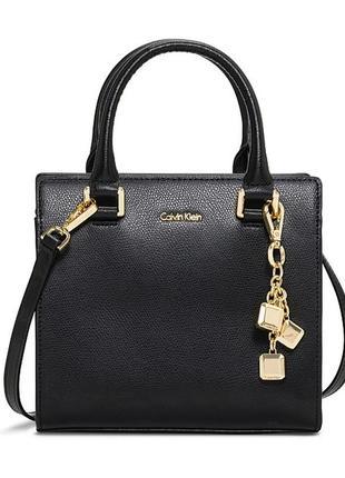 Стильная черная сумка calvin klein (модель logan)! натуральная кожа! оригинал!