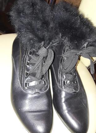 Итальянские кожаные демисезонные ботинки