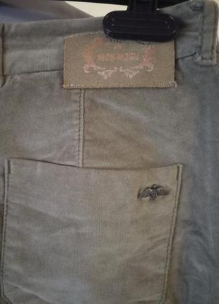 Цвет оливы,тренд сезона!велюровые брюки в тренде,44-46р2 фото