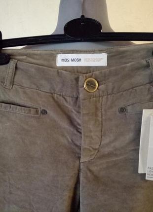 Цвет оливы,тренд сезона!велюровые брюки в тренде,44-46р4 фото