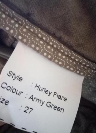 Цвет оливы,тренд сезона!велюровые брюки в тренде,44-46р5 фото
