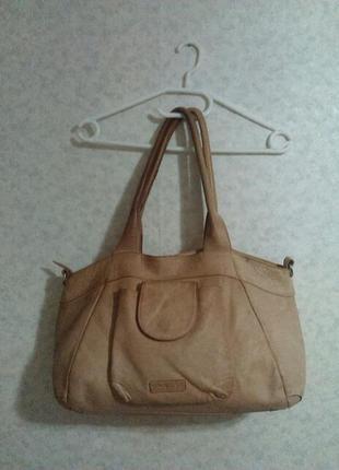 Шикарная кожаная сумка шопер varese