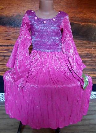Платье маскарадное minisas лет на 7-10 цена снижена