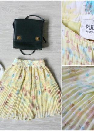 Плиссерованная юбка pull&bear