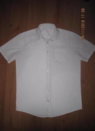 Белая рубашка george для подростка 13-14 лет