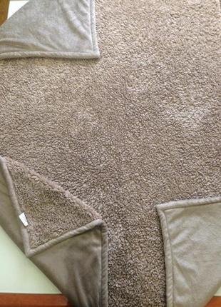 Покрывало плед одеяло италия размер 230*260 мех+велюр новая коллекция будьте стильными!