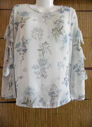 Блуза из иск.шелка новая george, размер 16 – идет на 50-52+.