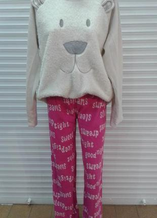 Теплые флисовые домашние штаны