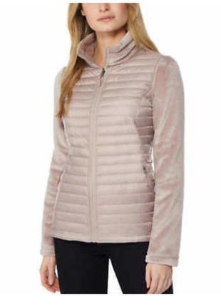 Теплая кофта-куртка флис и пух