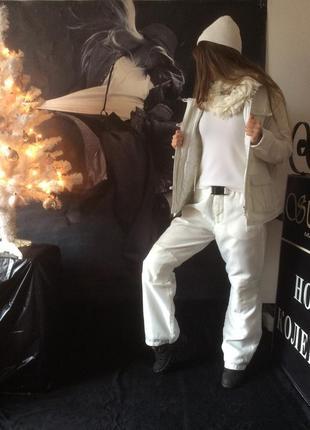 Зимний костюм , штаны с утеплённой подкладкой ,куртка с капюшоном