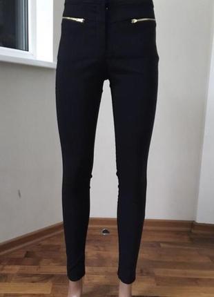 Чёрные штаны брюки с замочками