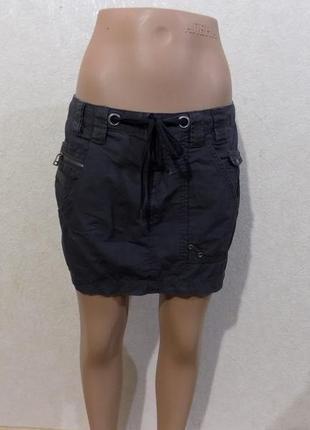 Юбка коттоновая с карманами фирменная vero moda размер 42-44