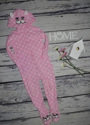 4 - 5 года 110 см фирменный человечек ромпер комбинезон пижама плюшевая кошка котик