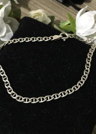 Браслет серебро 925 , 20 см длина