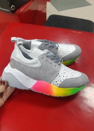 Кожанные брендовые кроссовки