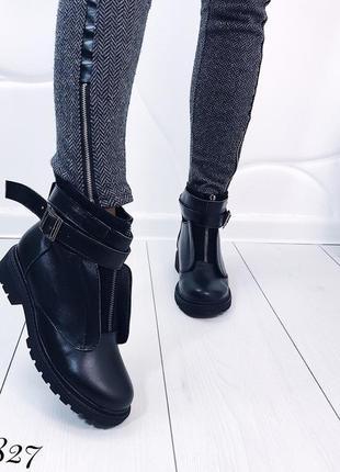 Зимние ботинки из натуральной кожи 36-40