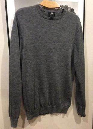 Базовый свитер ,джемпер с шерсти merino wool