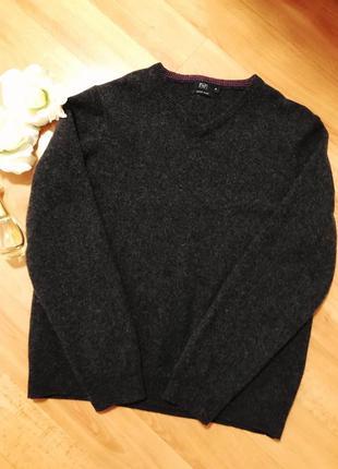 100% шерсть свитер джемпер f&f woolmark pure new wool