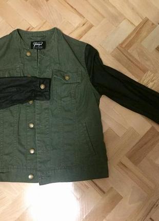 Джинсова куртка колір- хакі