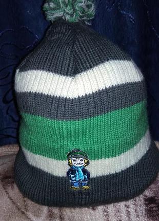 Зимняя шапка шапочка для мальчика woolmark.