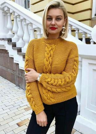 Идеальный свитер в цвете охра