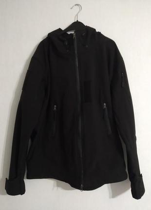 Черная милитари куртка демисезонная