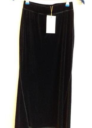 Бархатная юбка в пол rabens saloner