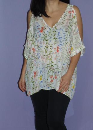 Блуза 20 размера, открытые плечи