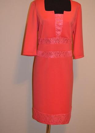Платье терракотовое, рукав 3 4